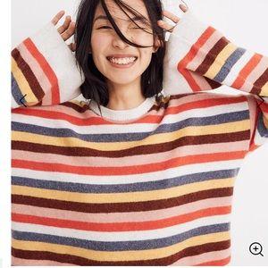 Madewell Cardiff Stripe Crewneck Sweater: Size L